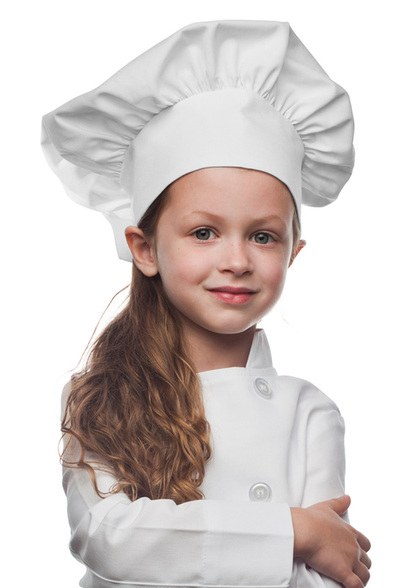 White Kids Chef Hat