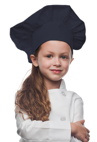 Navy Blue Kids Chef Hat
