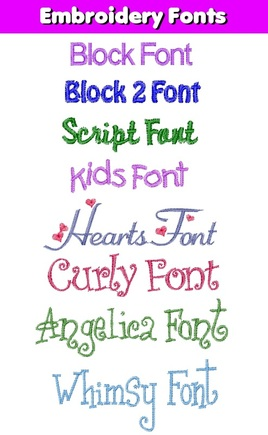 Embroidery Font